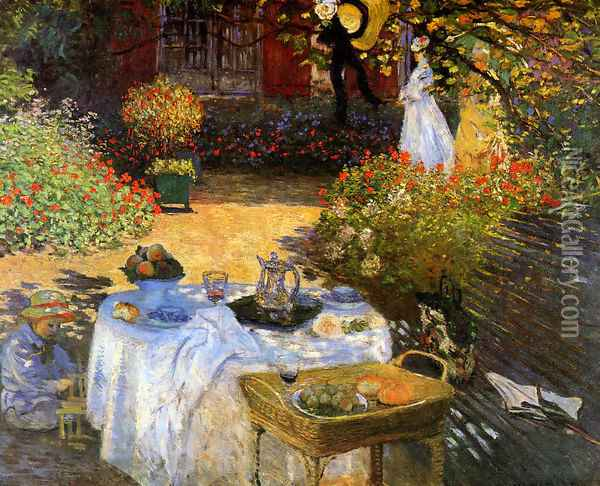 The Afternoon Meal Oil Painting - Claude Oscar Monet