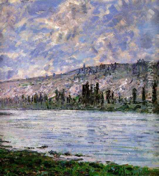 The Seine at Vetheuil (detail) Oil Painting - Claude Oscar Monet