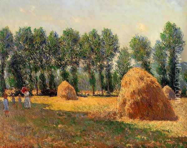 Haystacks At Giverny Oil Painting - Claude Oscar Monet