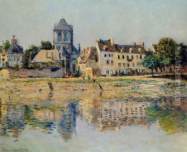 By the River at Vernon Oil Painting - Claude Oscar Monet