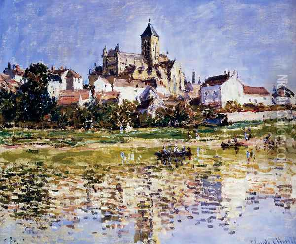 The Church At Vetheuil 2 Oil Painting - Claude Oscar Monet