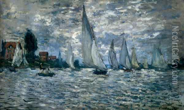 The Boats: Regatta At Argenteuil Oil Painting - Claude Oscar Monet