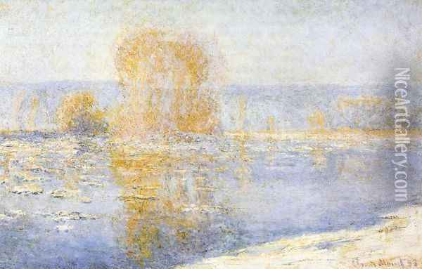 Floating Ice at Bennecourt Oil Painting - Claude Oscar Monet