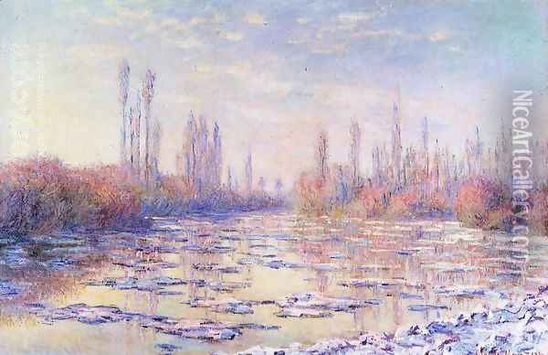 Floating Ice Oil Painting - Claude Oscar Monet