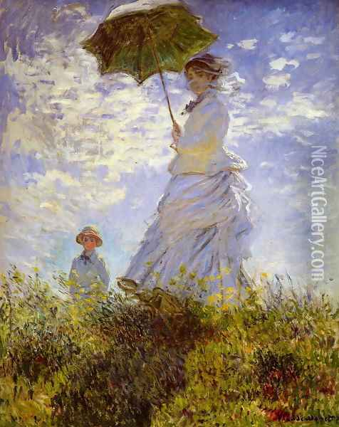 The Woman With The Parasol Oil Painting - Claude Oscar Monet
