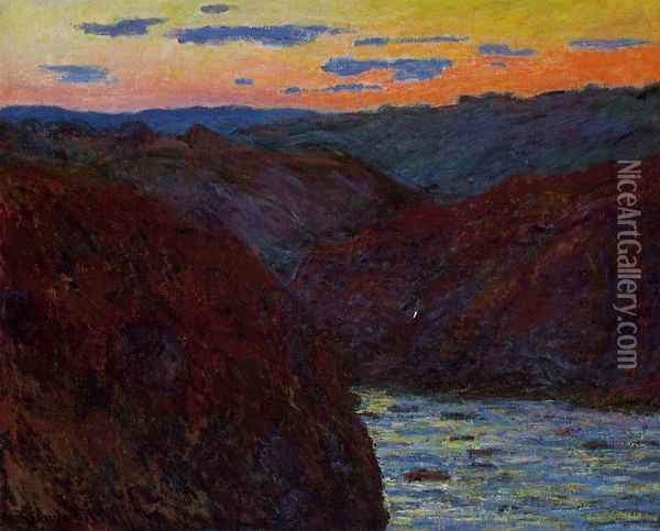 Valley of the Creuse, Sunset Oil Painting - Claude Oscar Monet