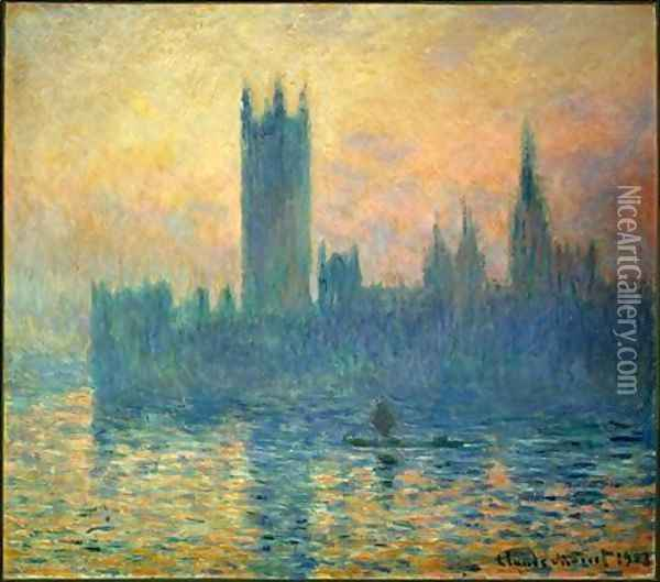 The Houses of Parliament, Sunset Oil Painting - Claude Oscar Monet