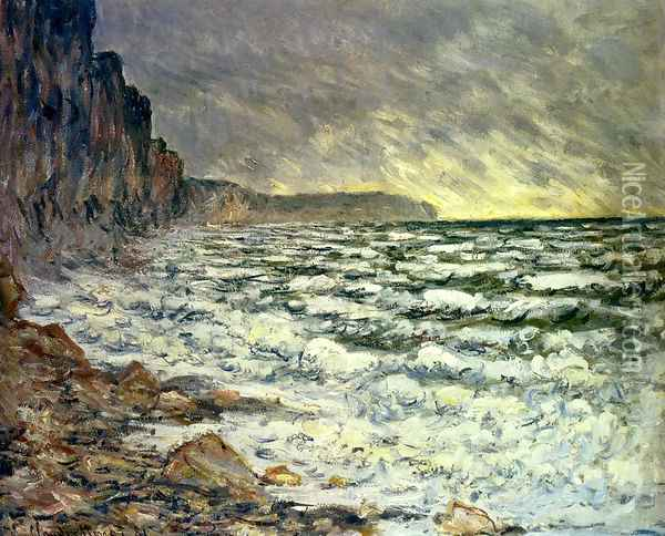 The Sea At Fecamp 2 Oil Painting - Claude Oscar Monet
