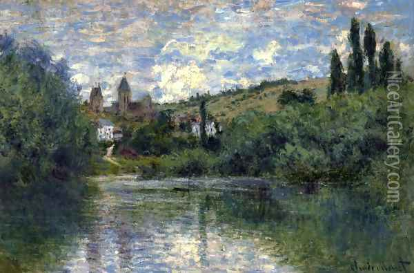 View of Vetheuil I Oil Painting - Claude Oscar Monet