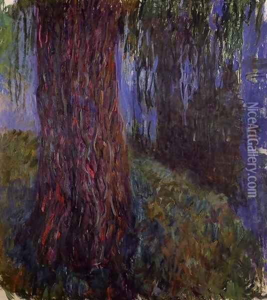 Water-Lily Garden with Weeping Willow Oil Painting - Claude Oscar Monet