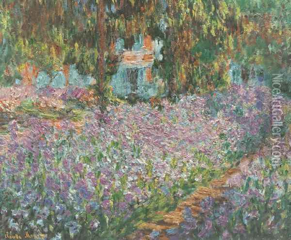 The Artist's Garden at Giverny Oil Painting - Claude Oscar Monet