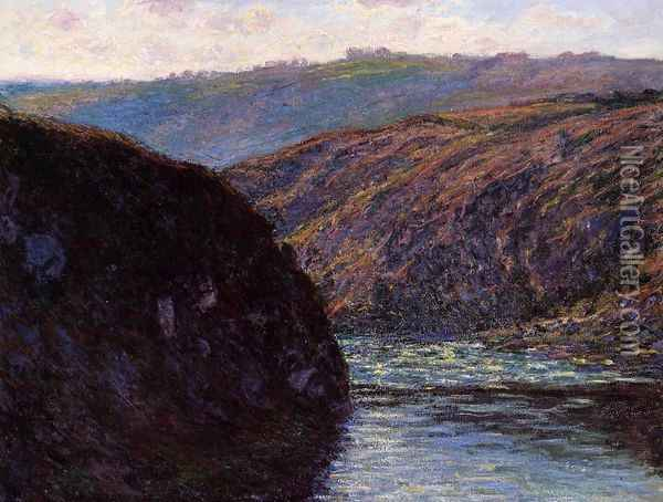 Valley of the Creuse, Afternoon Sunlight Oil Painting - Claude Oscar Monet