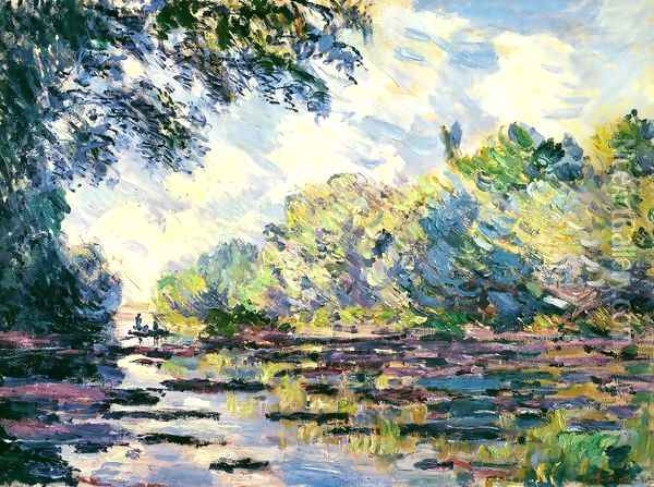 Section of the Seine, near Giverny Oil Painting - Claude Oscar Monet