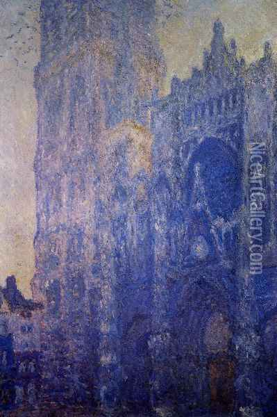 Rouen Cathedral, the Portal and the tour d'Albane, Morning Effect Oil Painting - Claude Oscar Monet