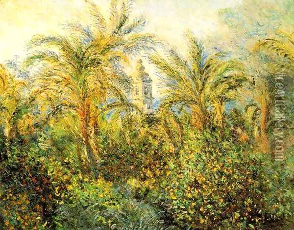 Garden in Bordighera, Impression of Morning [1884] Oil Painting - Claude Oscar Monet