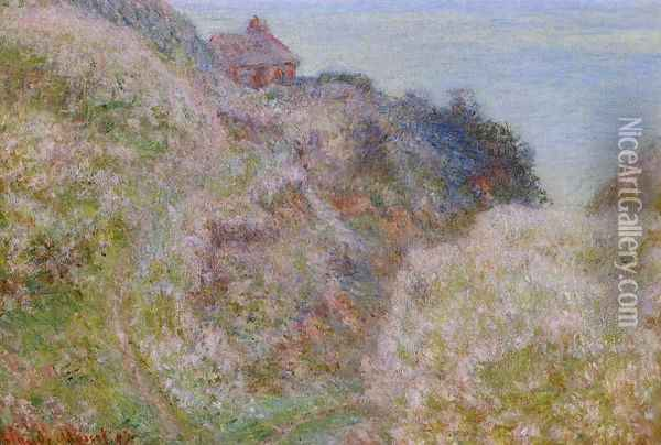 The Gorge du Petit Ailly, Verengeville, Grey Weather Oil Painting - Claude Oscar Monet