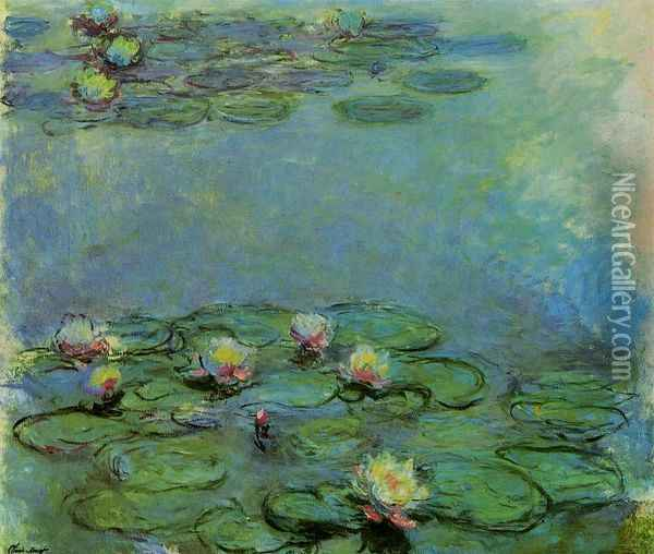Water-Lilies 25 Oil Painting - Claude Oscar Monet
