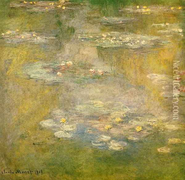 Water-Lilies 14 Oil Painting - Claude Oscar Monet