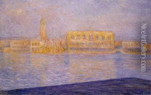 The Doges' Palace Seen from San Giorgio Maggiore III Oil Painting - Claude Oscar Monet