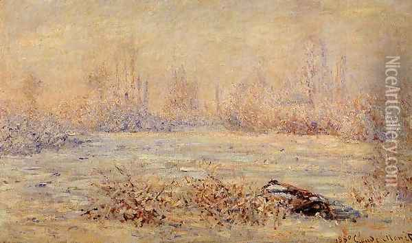 Frost near Vetheuil Oil Painting - Claude Oscar Monet