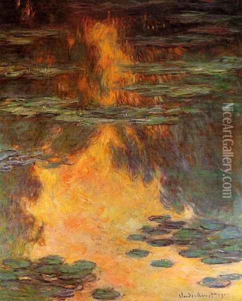 Water-Lilies 11 Oil Painting - Claude Oscar Monet