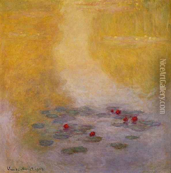 Water-Lilies 19 Oil Painting - Claude Oscar Monet