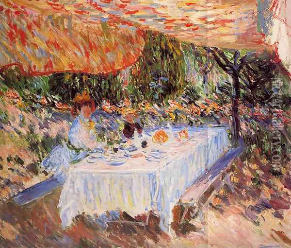 Luncheon under the Tent Oil Painting - Claude Oscar Monet