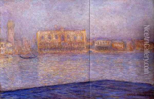 The Doges' Palace Seen from San Giorgio Maggiore I Oil Painting - Claude Oscar Monet