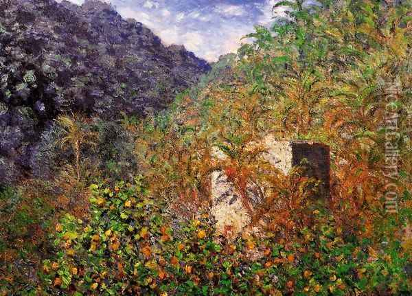 The Valley of Sasso, Bordighera 2 Oil Painting - Claude Oscar Monet