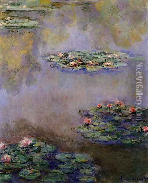 Water-Lilies 23 Oil Painting - Claude Oscar Monet