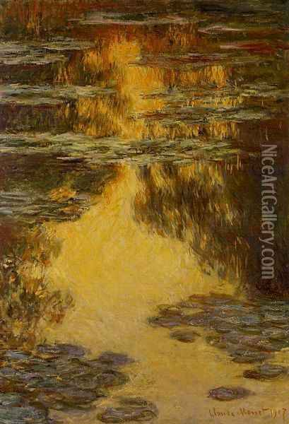 Water-Lilies 13 Oil Painting - Claude Oscar Monet