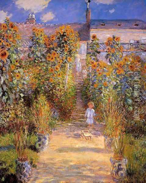 Monet's Garden at Vetheuil 2 Oil Painting - Claude Oscar Monet