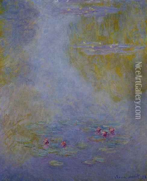 Water-Lilies 21 Oil Painting - Claude Oscar Monet