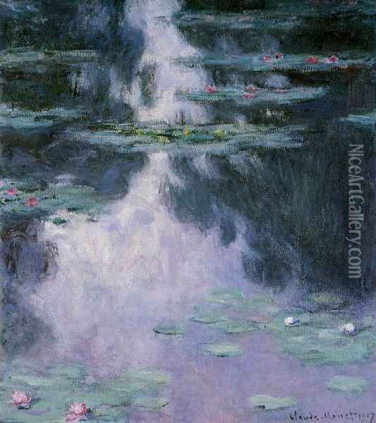 Water-Lilies 7 Oil Painting - Claude Oscar Monet