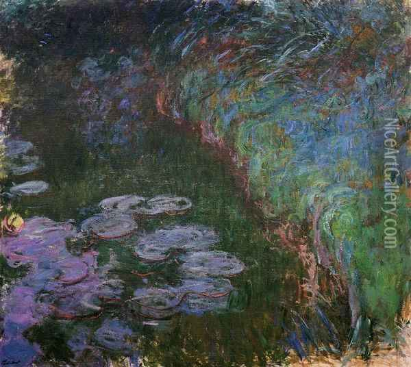 Water-Lilies 33 Oil Painting - Claude Oscar Monet