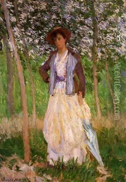 The Stoller (Suzanne Hoschede) Oil Painting - Claude Oscar Monet