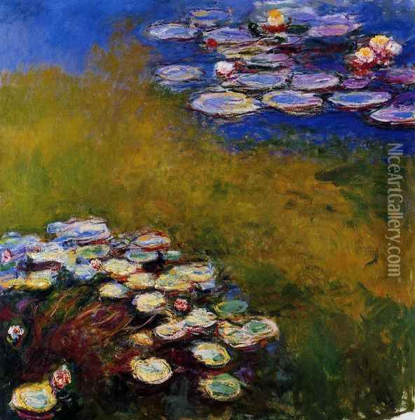 Water-Lilies 32 Oil Painting - Claude Oscar Monet