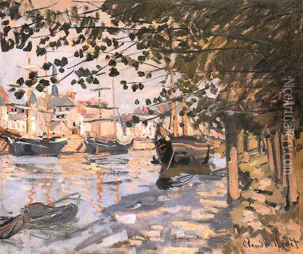 The Seine At Rouen 1872 Oil Painting - Claude Oscar Monet