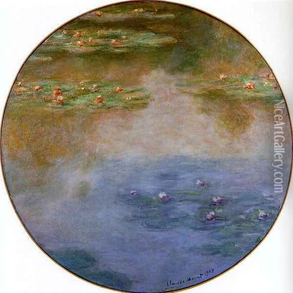 Water-Lilies 5 Oil Painting - Claude Oscar Monet