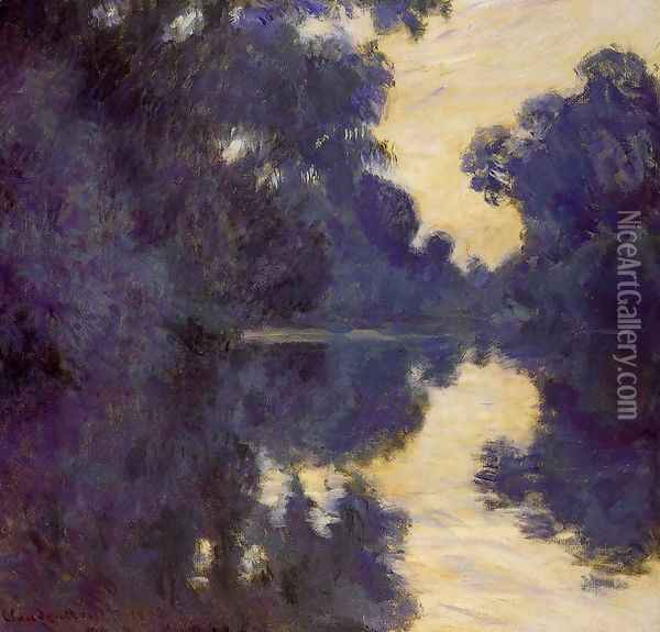 Morning on the Seine 1 Oil Painting - Claude Oscar Monet