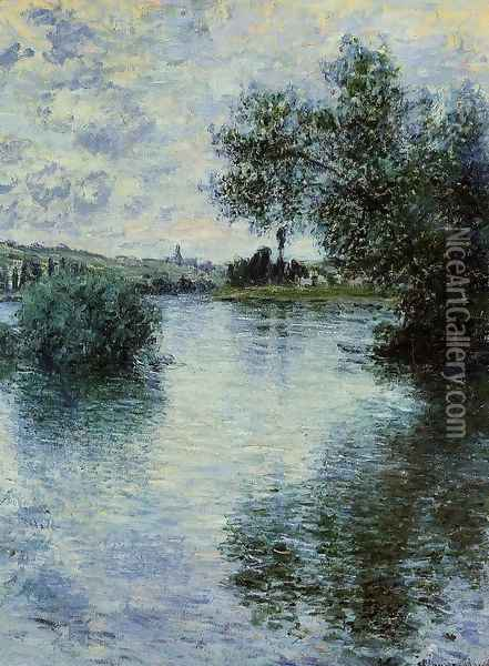 The Seine at Vetheuil 1 Oil Painting - Claude Oscar Monet