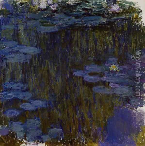 Water-Lilies 49 Oil Painting - Claude Oscar Monet