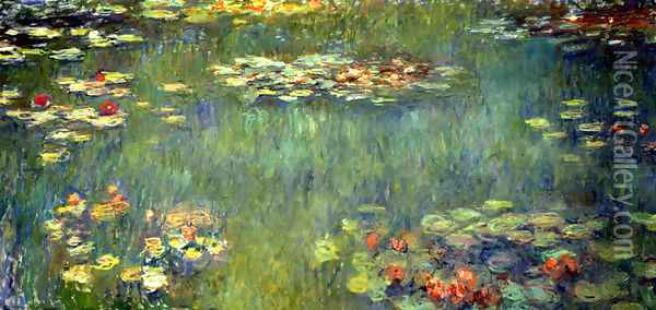 Pool with Waterlilies Oil Painting - Claude Oscar Monet