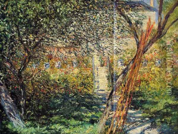 Monet's Garden at Vetheuil Oil Painting - Claude Oscar Monet