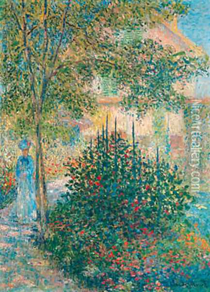 Camille Monet in the Garden at Argenteuil 1876 Oil Painting - Claude Oscar Monet