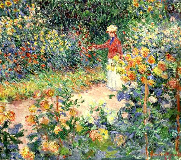 Monet's Garden at Giverny Oil Painting - Claude Oscar Monet