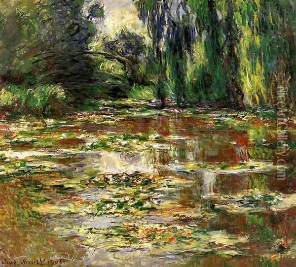 The Bridge over the Water-Lily Pond 1905 Oil Painting - Claude Oscar Monet