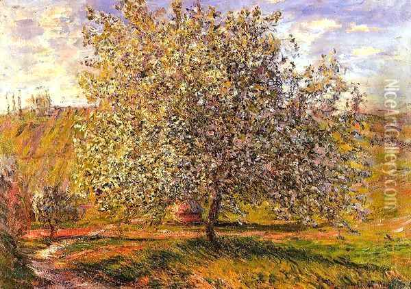 Tree in Flower near Vetheuil Oil Painting - Claude Oscar Monet