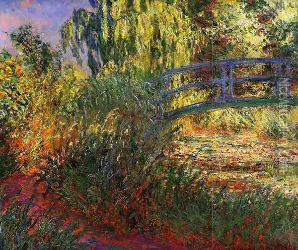 Path along the Water-Lily Pond 1900 Oil Painting - Claude Oscar Monet