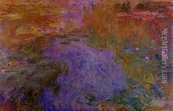 The Water-Lily Pond2 1917-1919 Oil Painting - Claude Oscar Monet
